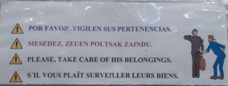 mistranslation of sign belongings