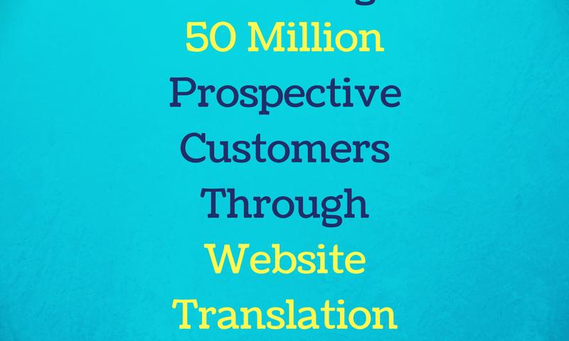 reaching million customers through website translation