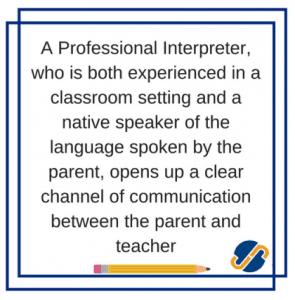 professional interpreter for school