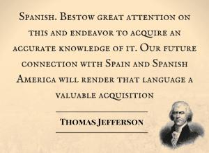 spanish language quote thomas jefferson