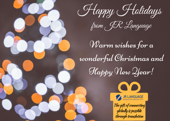 jr language translations holiday greetings
