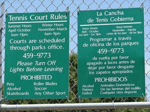 spanish mistranslation tennis court