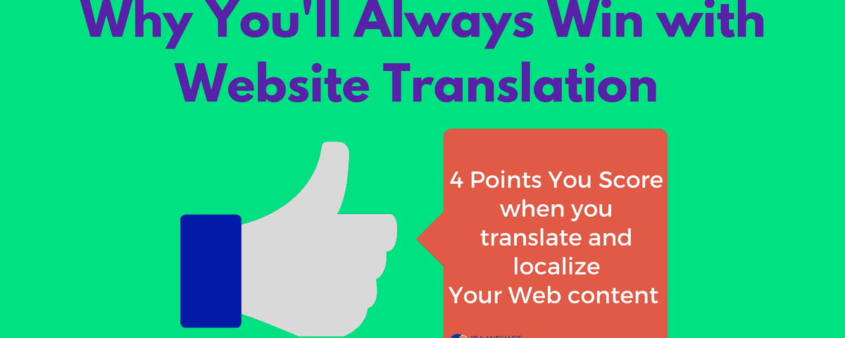 why you'll win with website translation
