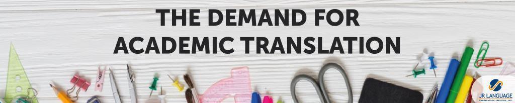 demand for academic translations