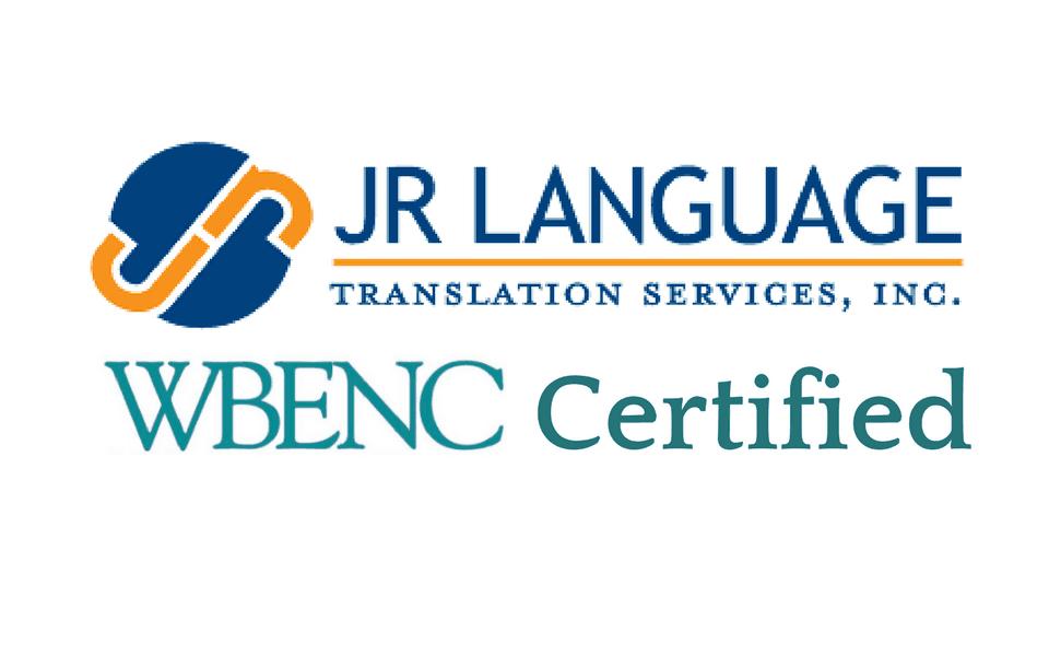 jr language translations wbenc certified