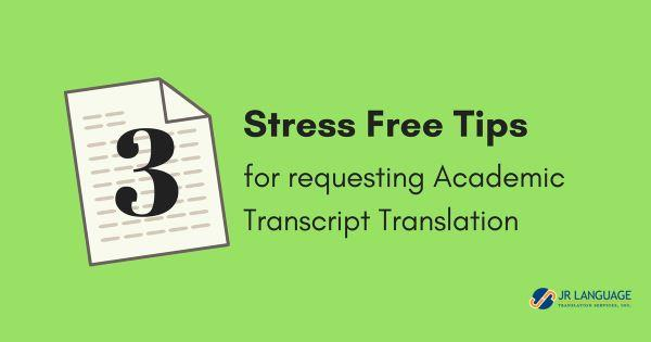 tips for request transcript translation