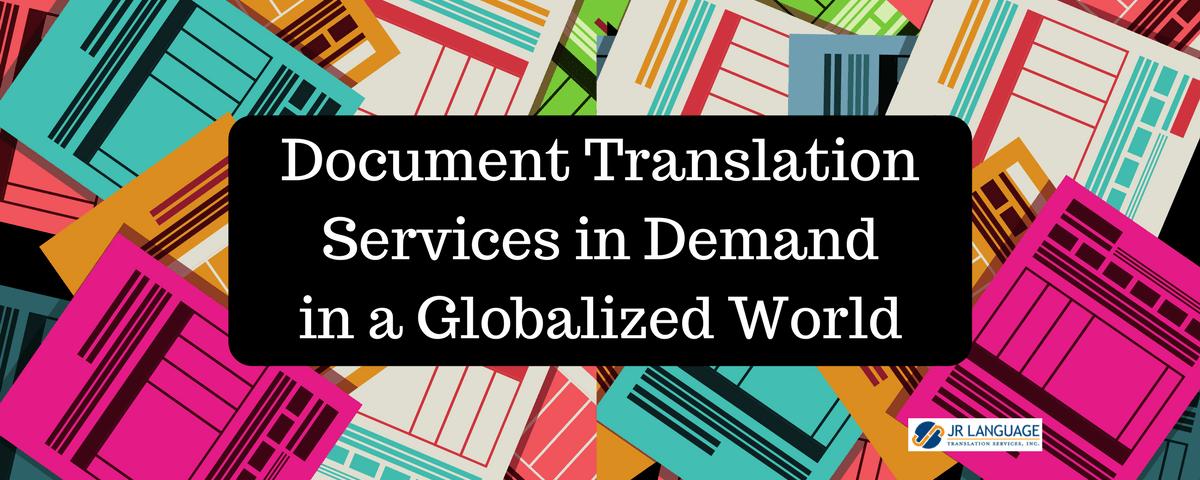 document translation services demand