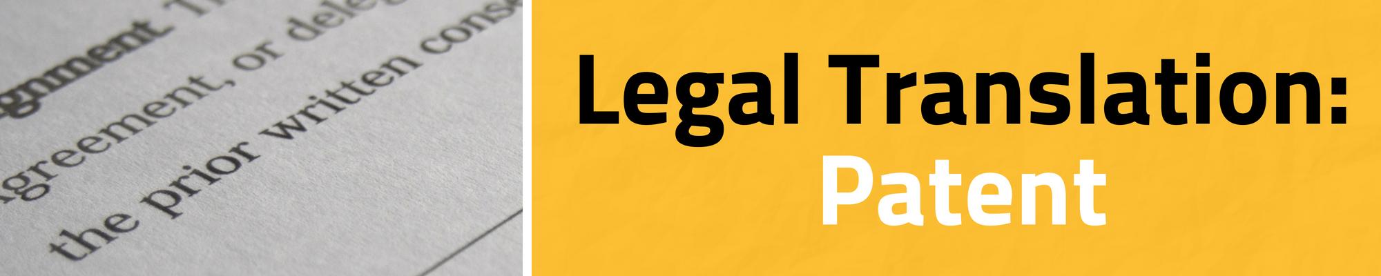 legal translation of patents