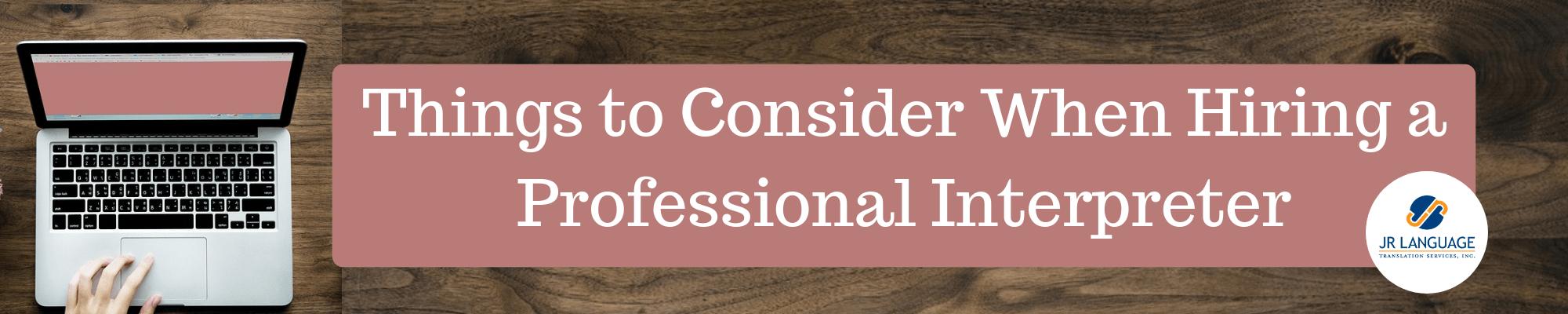 tips for hiring an interpreter