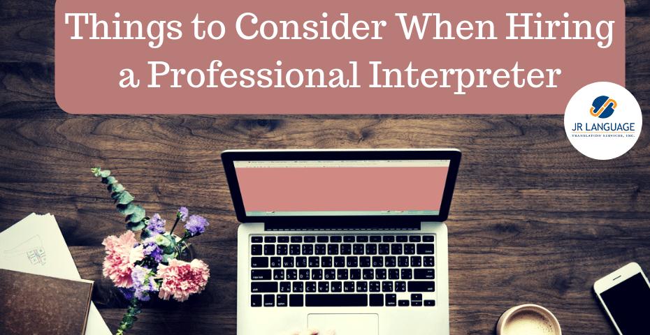 hiring for interpretation services