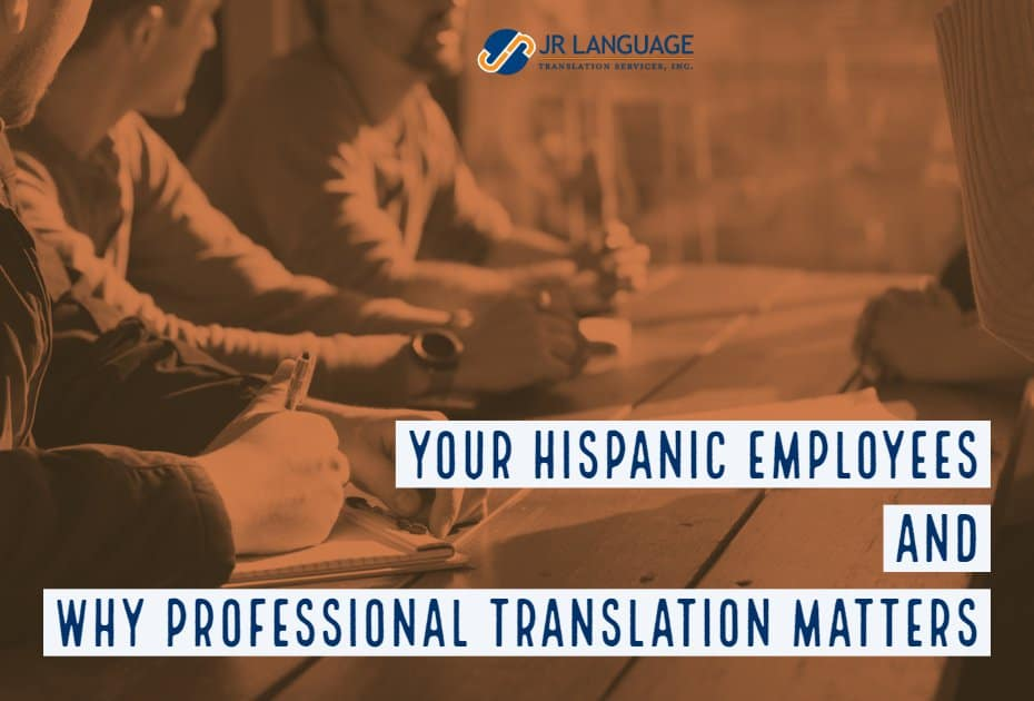 spanish translation hr for hispanic employees