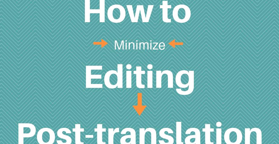 post translation editing service