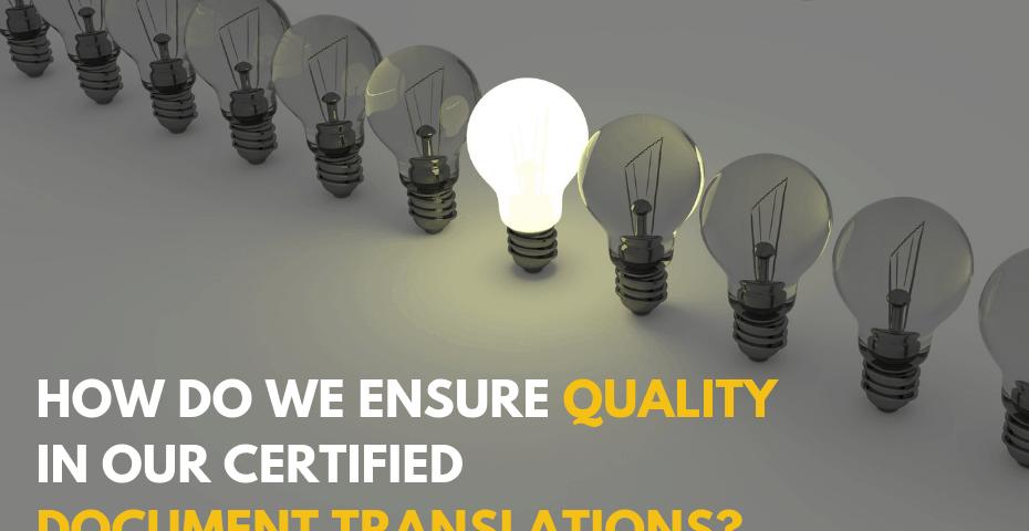 certified translation quality ensuring
