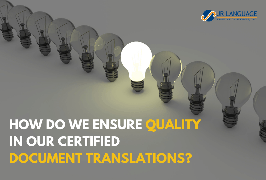 certified translation quality ensuring