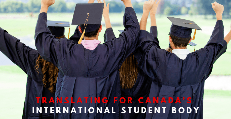 canada translation services international students
