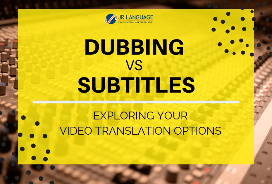 video translation services options