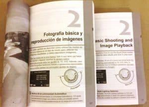 spanish and english manual camera