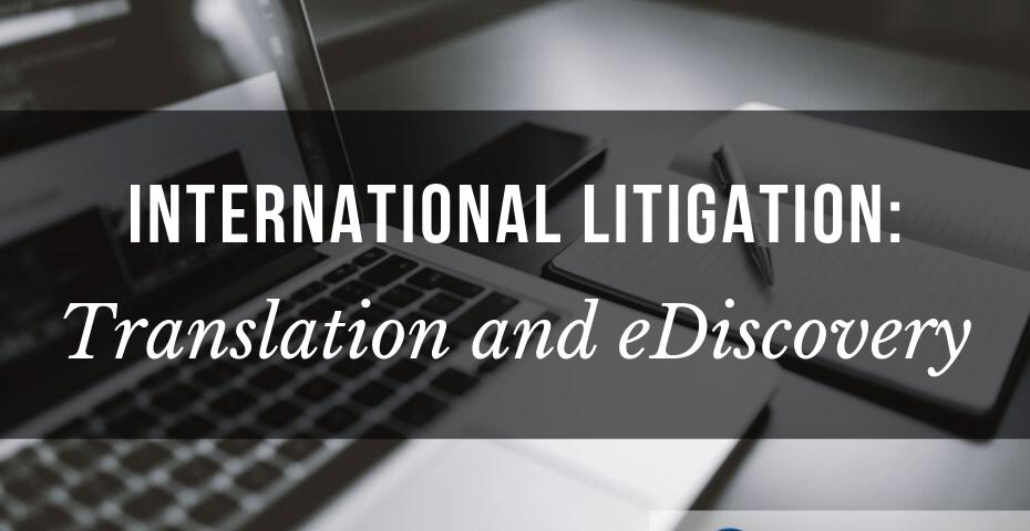 legal translation ediscovery