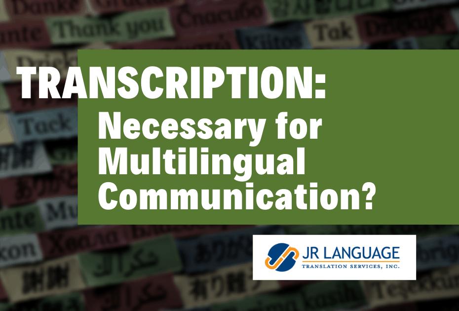 professional transcription services for audio