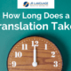translation services project timeline