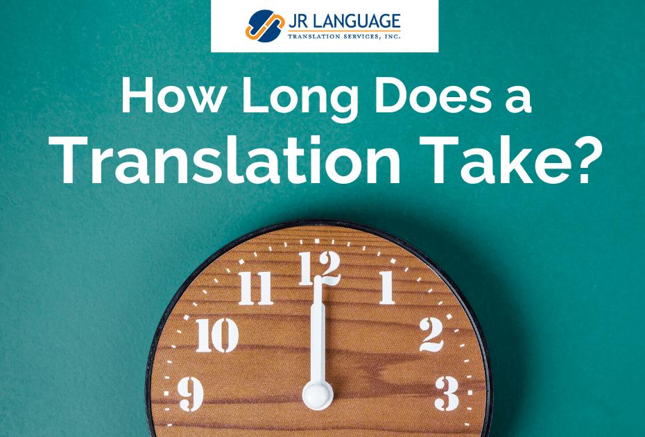 translation services project timeline
