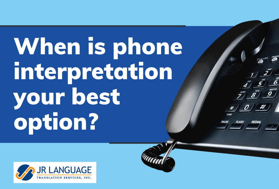 Over the phone interpretation