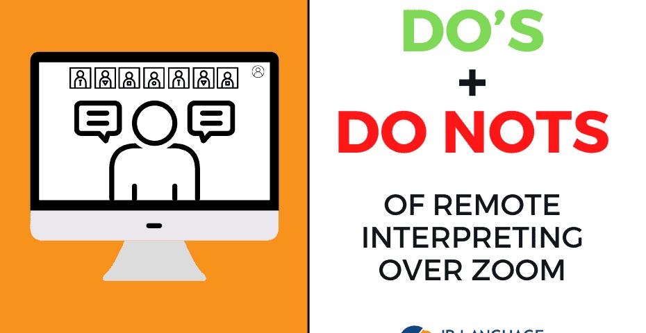 Remote interpretation in Zoom platform