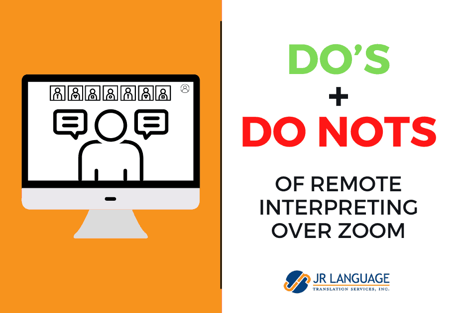 Remote interpretation in Zoom platform