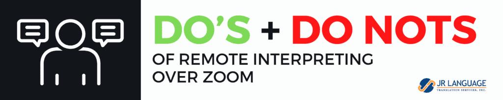 Simultaneus Interpretation in Zoom platform