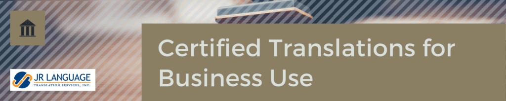 Certified Document Translation Services