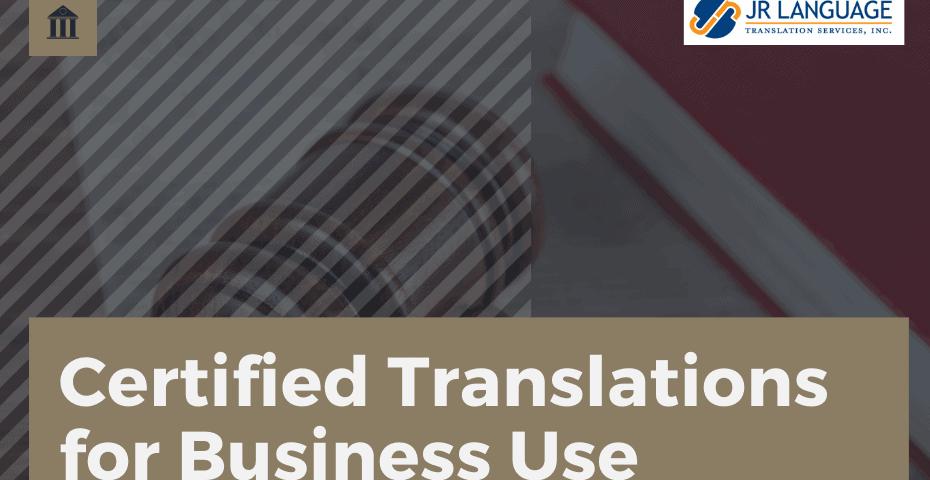 Certified Translation Services